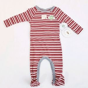 NWT Burt's Bees Baby Peppermint Stripe Holiday PJs